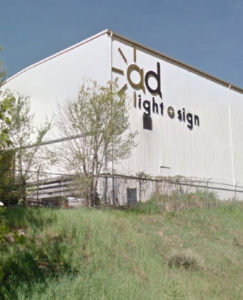 ad light about building