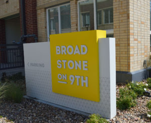 Broadstone on 9th monument sign