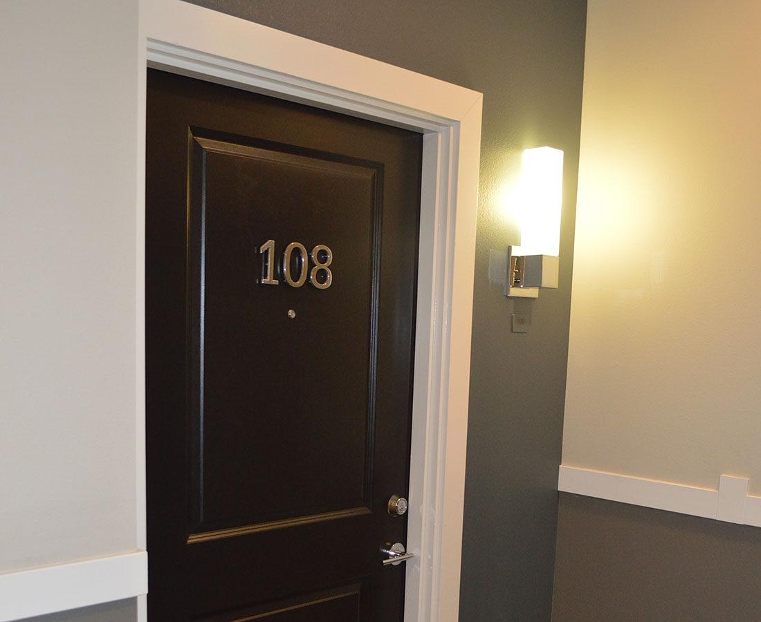 Broadstone on 9th Unit ID interior signage