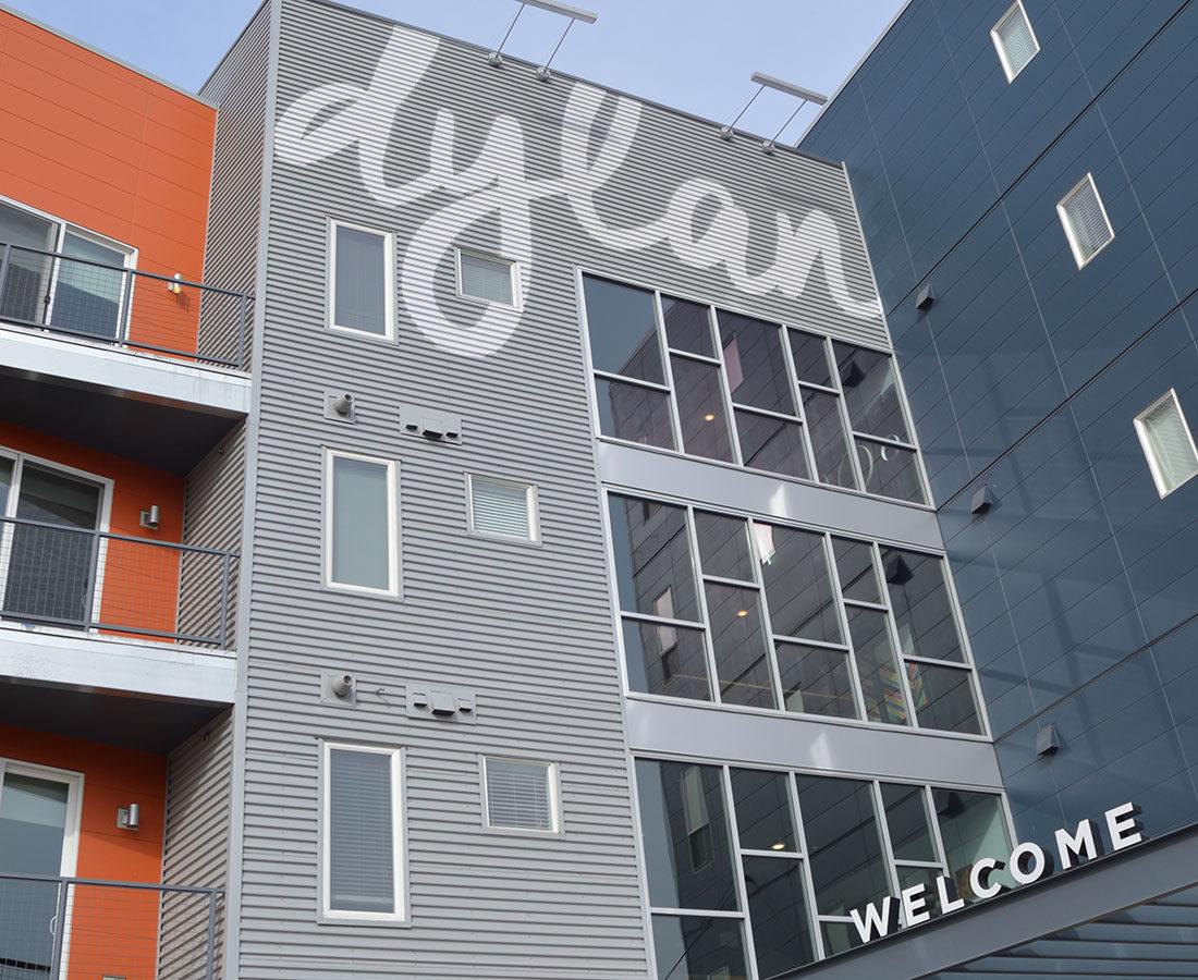 Dylan exterior front signage