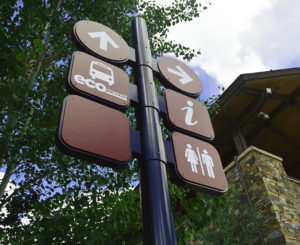 Town of Vail information signs