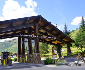 Town of Vail lionshead parking sign
