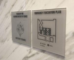 1401 Lawrence glass evacuation maps