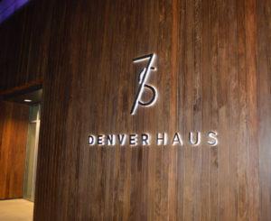 7S Denver Haus leasing sign illuminated