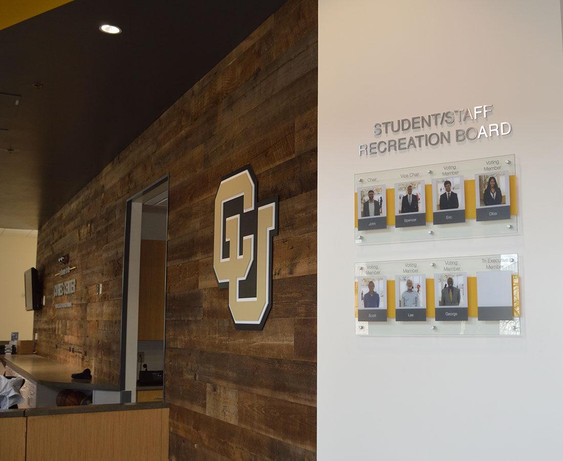 CU Boulder Rec Center student board