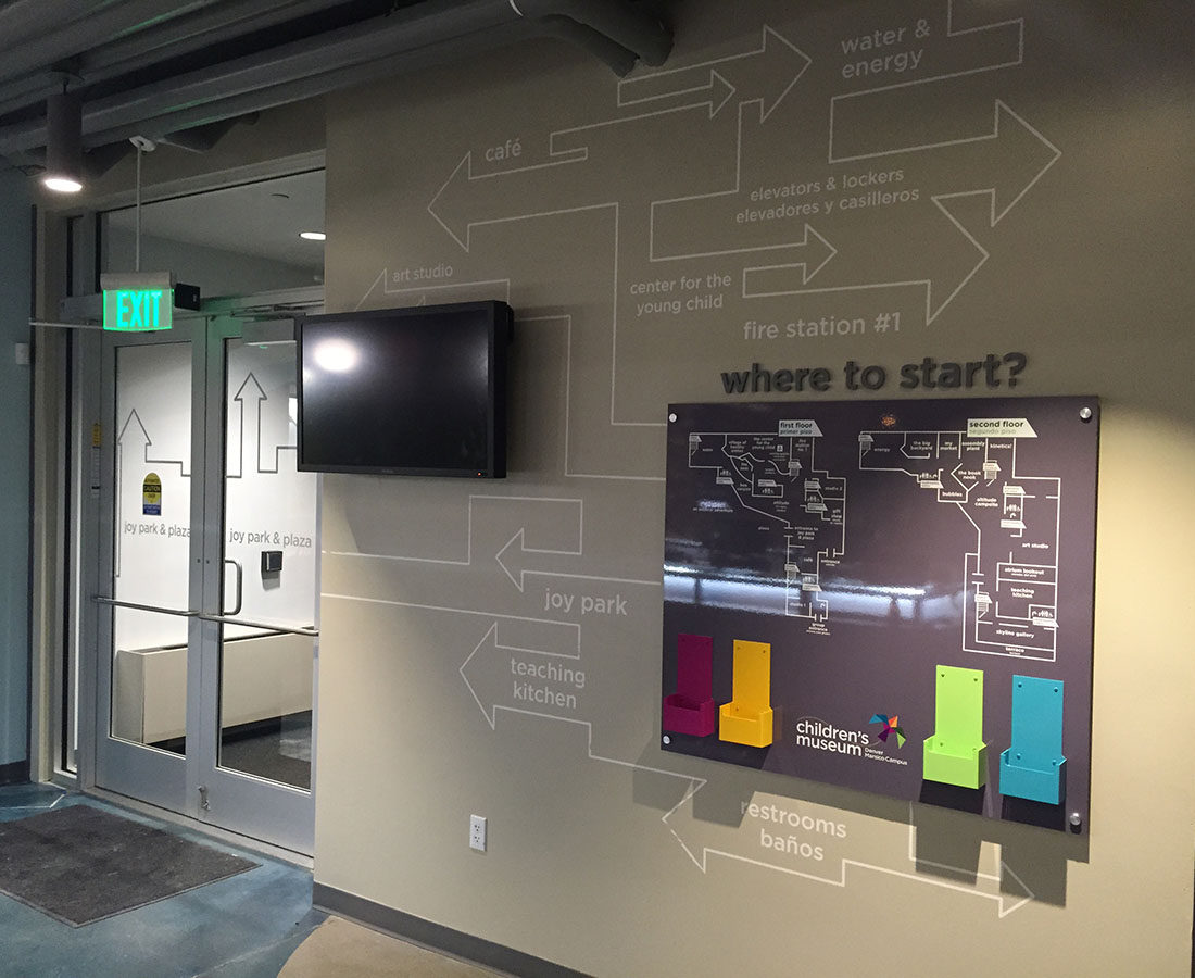Children's Museum information rack