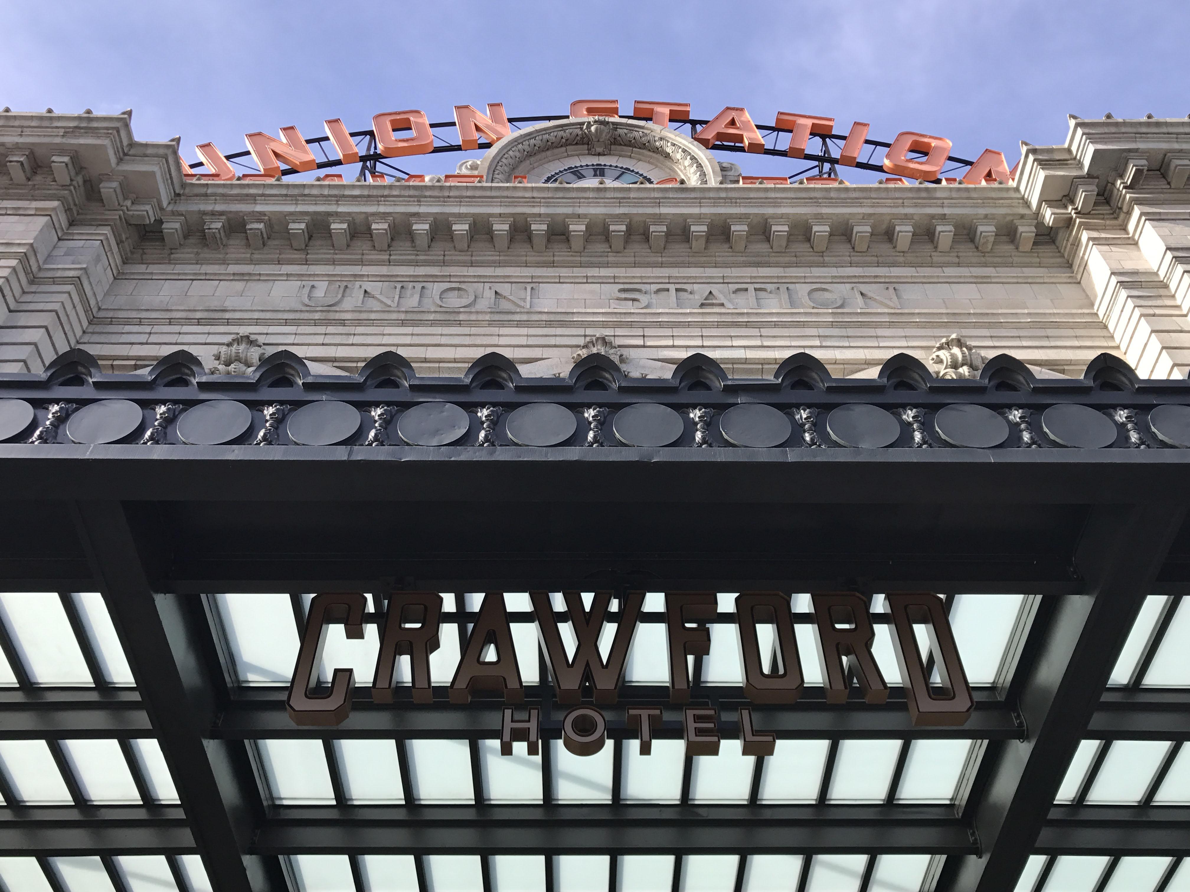 Crawford Hotel Exterior Sign