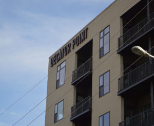 Decatur Point exterior channel letters