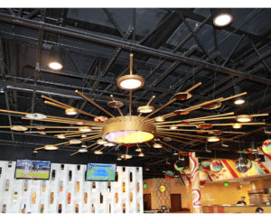 Mellow Mushroom custom light fixture