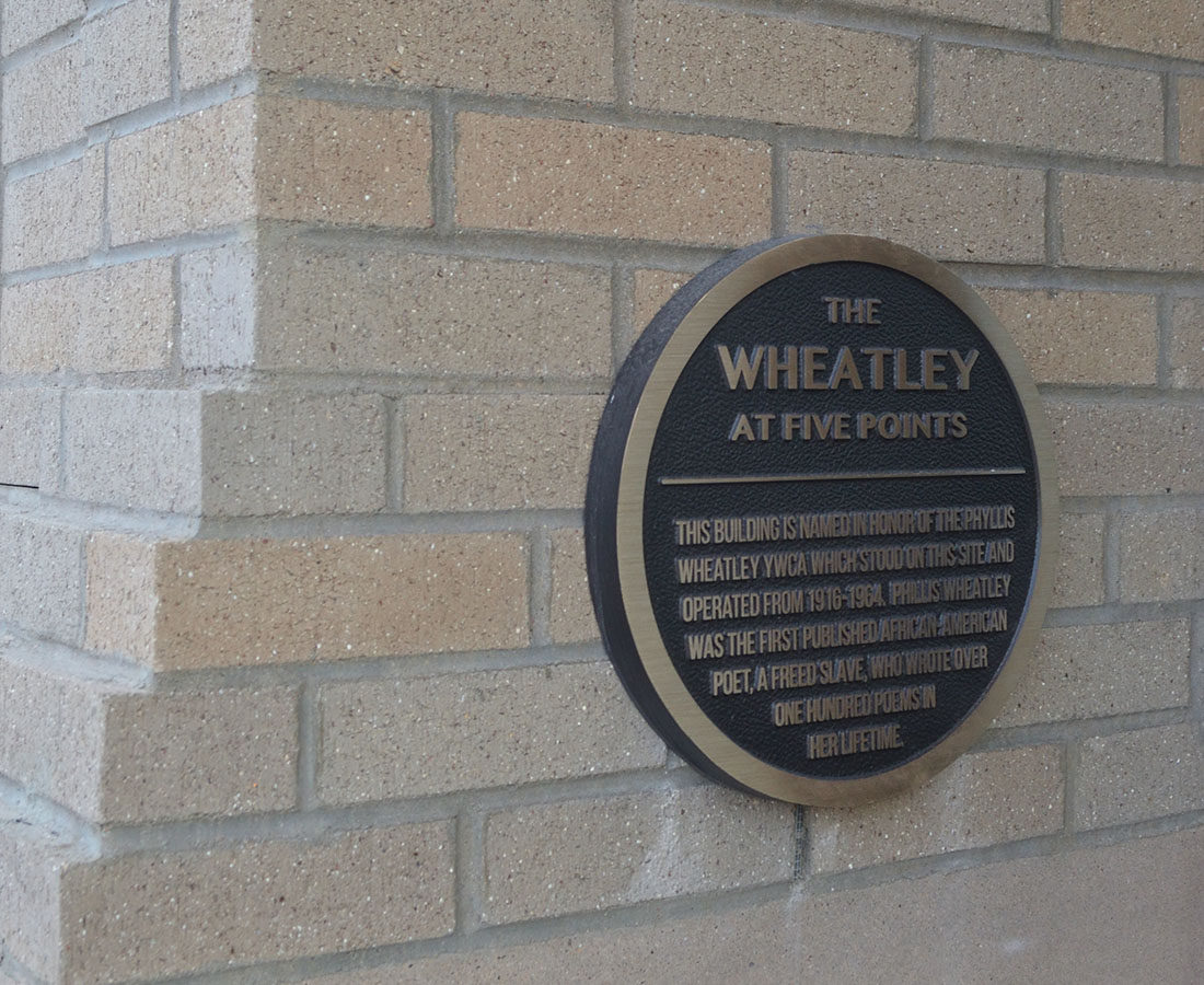The Wheatley Flats bronze plaque