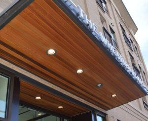 The Wheatley Flats entrance canopy sig