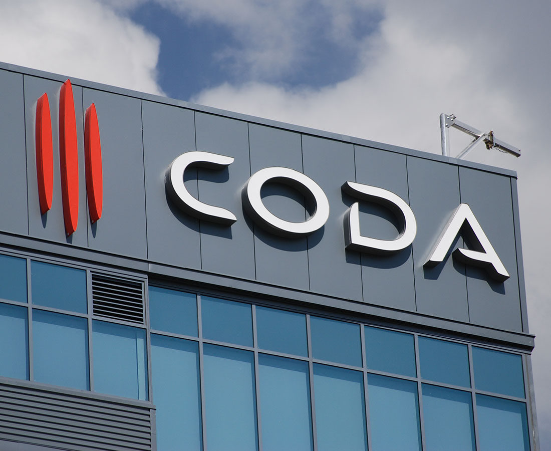 Coda Apartments Main Channel Letters High Rise