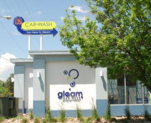 Gleam Car Wash pylon and FCOs