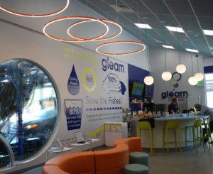 Gleam Car Wash interior vinyl and FCOs