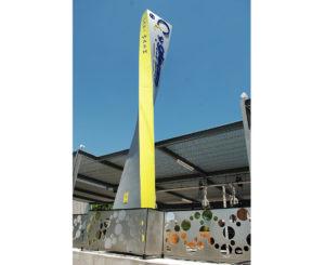 Gleam Car Wash pylon sign close up