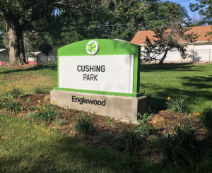 City of Englewood Cushing Park monument sign