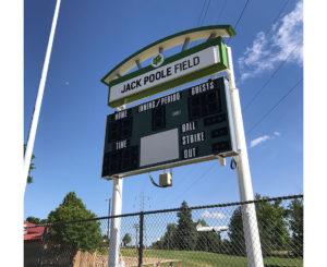 City of Englewood Jack Poole Field Scoreboard Topper