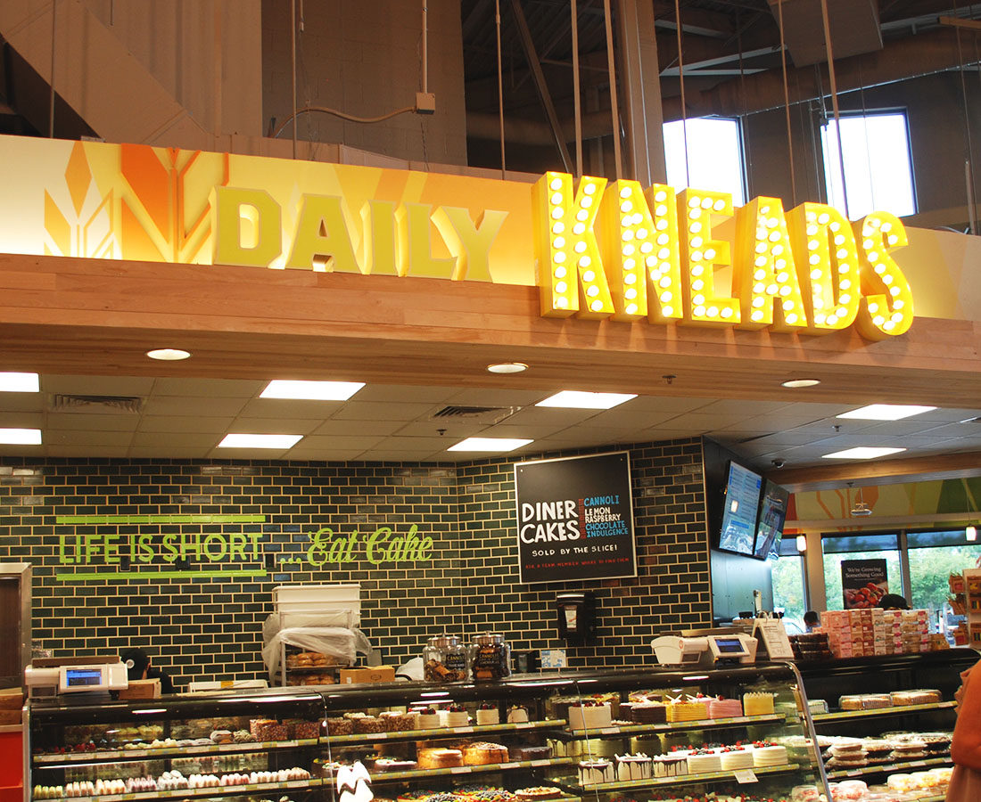 Whole Foods Cherry Creek daily kneads sign