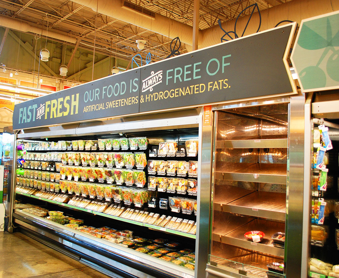 Whole Foods Cherry Creek fast and fresh sign
