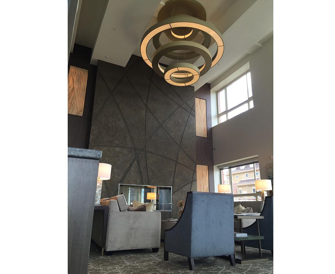 Ovation Apartments light fixture