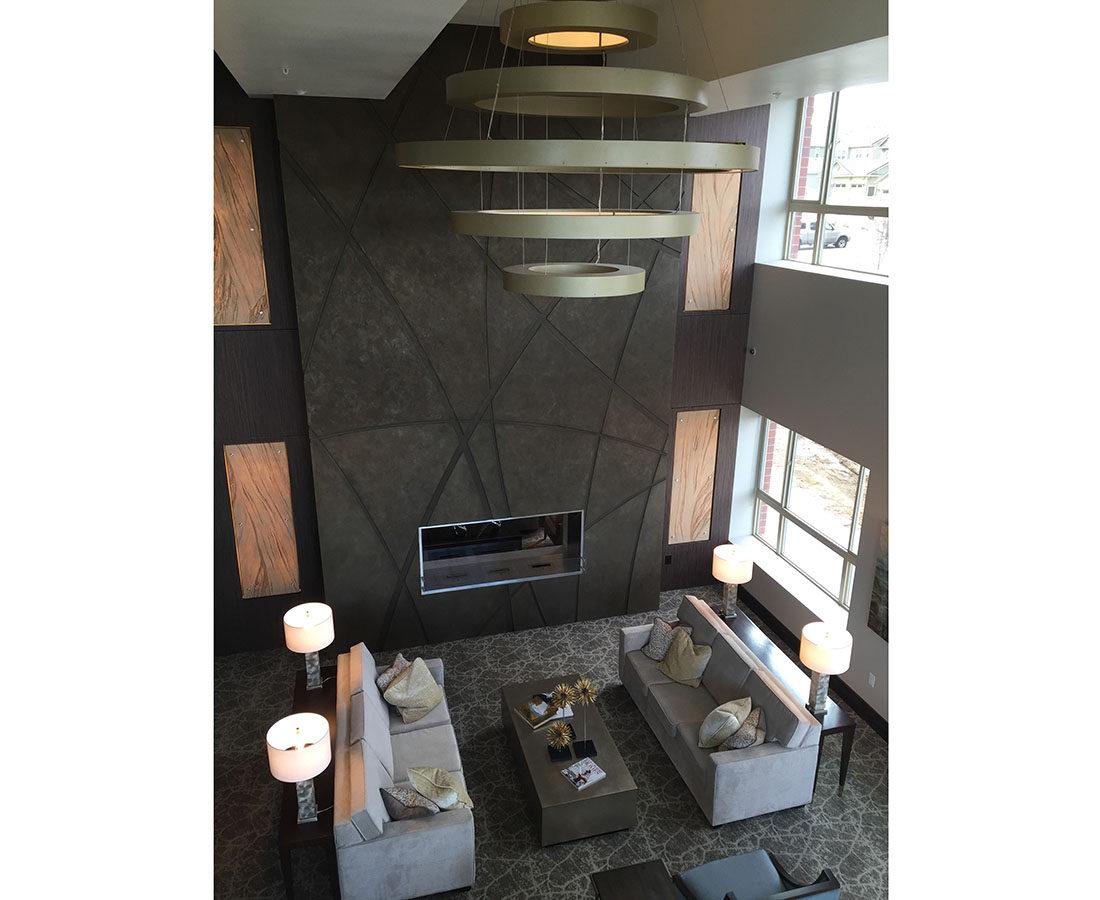 Ovation Apartments custom light fixture