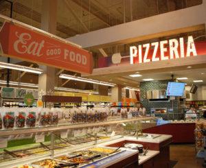 Whole Foods Cherry Creek pizzeria illuminated sign