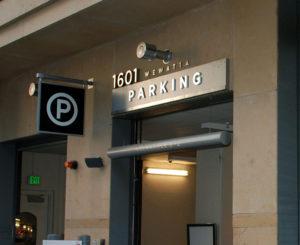 1601 Wewatta parking signage