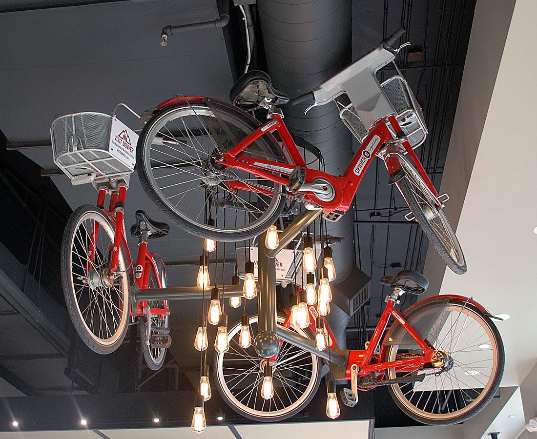 Visit Denver Bike Light fixture