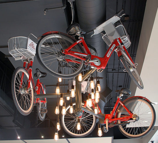 Visit Denver Bike Light fixture