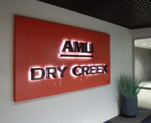 AMLI Dry Creek illuminated Entry sign
