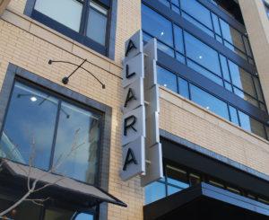 Alara blade sign close up day