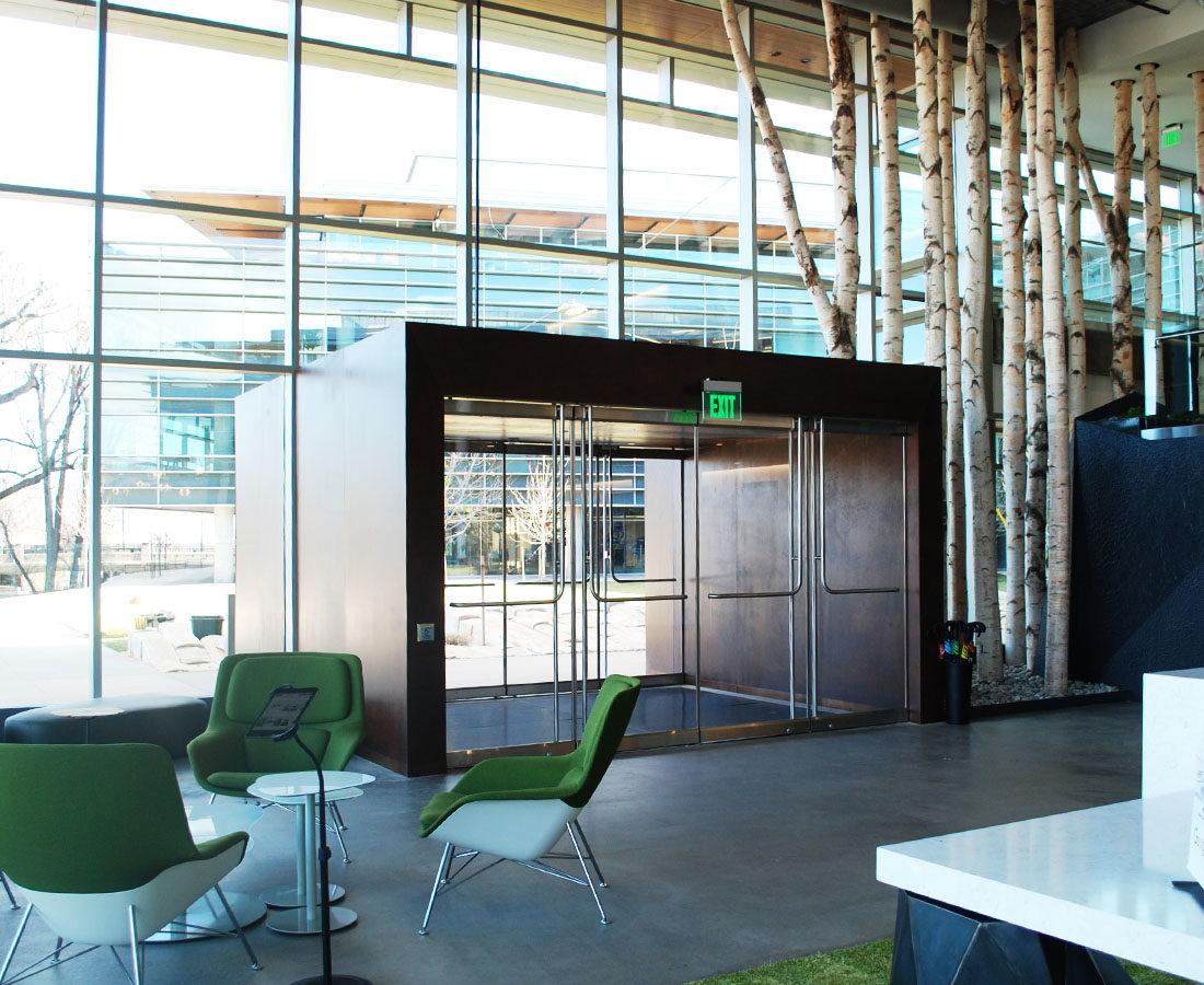 Google Boulder Steel Vestibule Interior