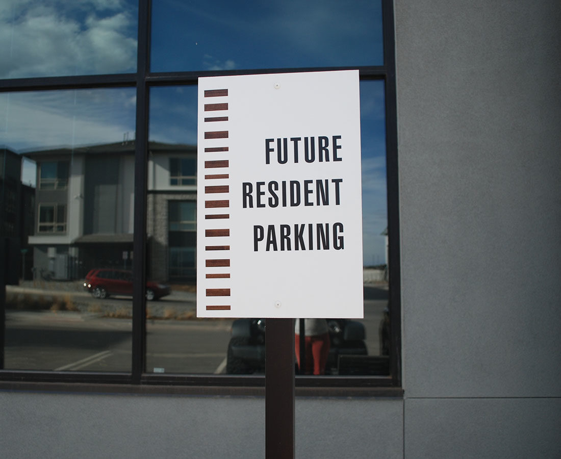 Solana Lucent Station future resident parking sign