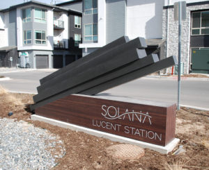 Solana Lucent Station custom fabricated monument sign