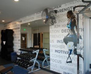 Westline Flats interior fitness graphic