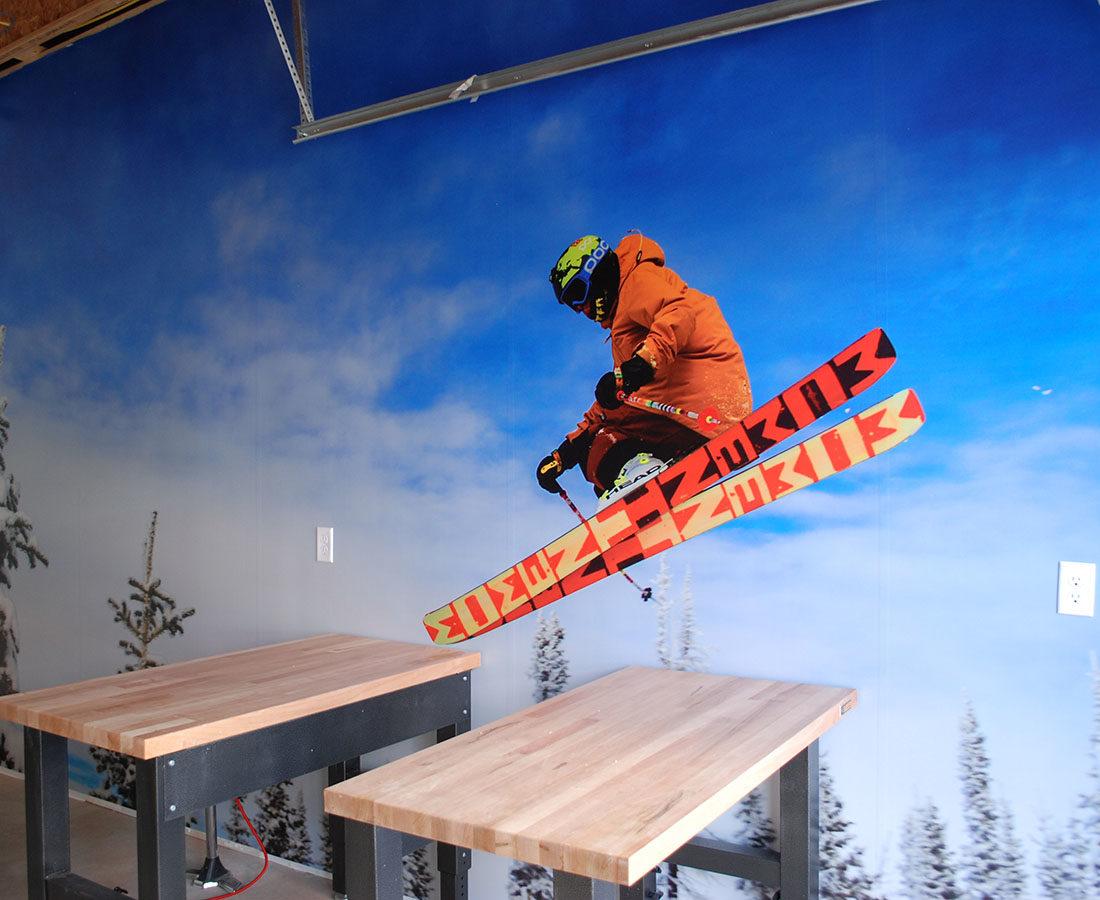 Westline Flats interior sport shop graphic
