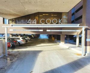 44 Cook garage sign