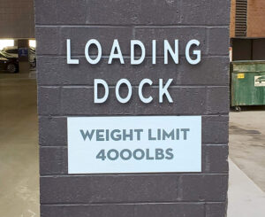 55 Madison and 44 Cook loading dock sign