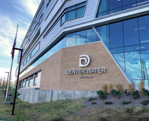 Exterior address sign at Denver Water