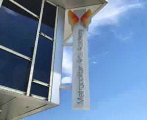 Metropolitan Arts Academy illuminated blade sign