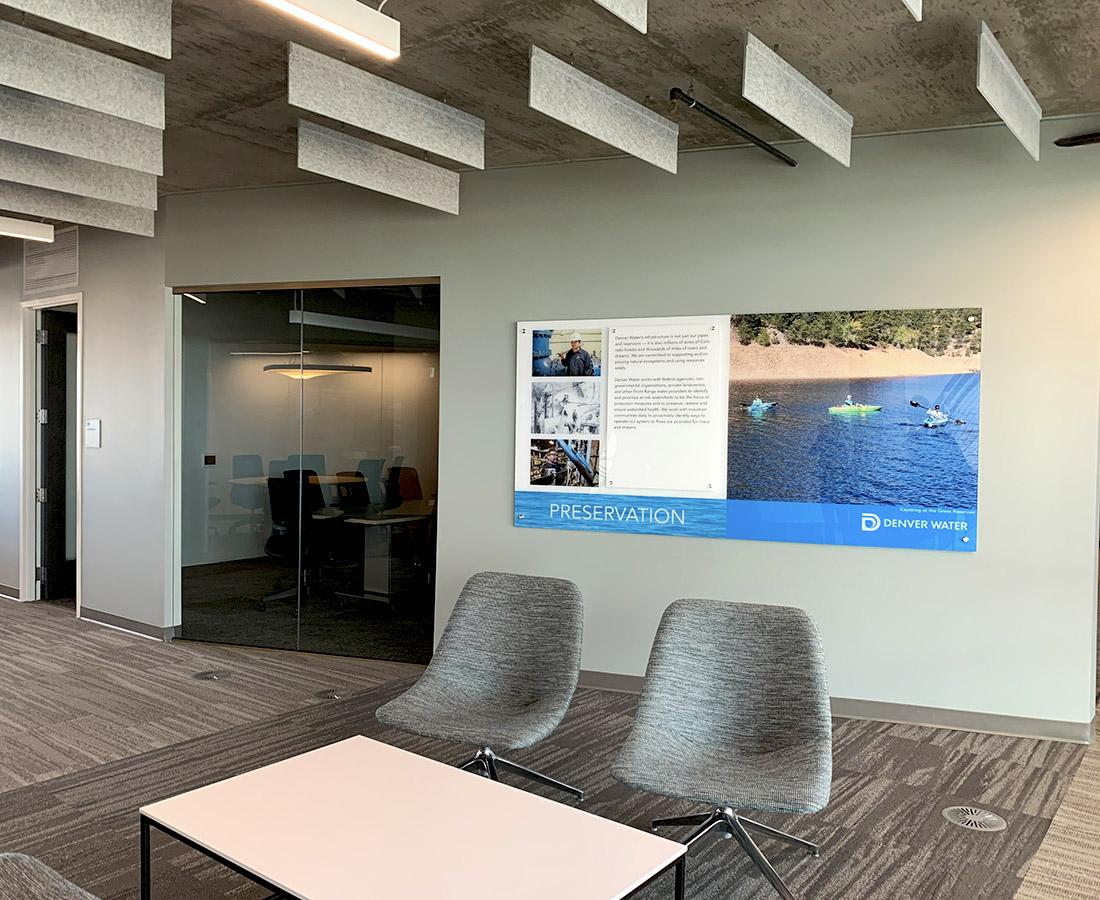 Interior wall graphic at Denver Water