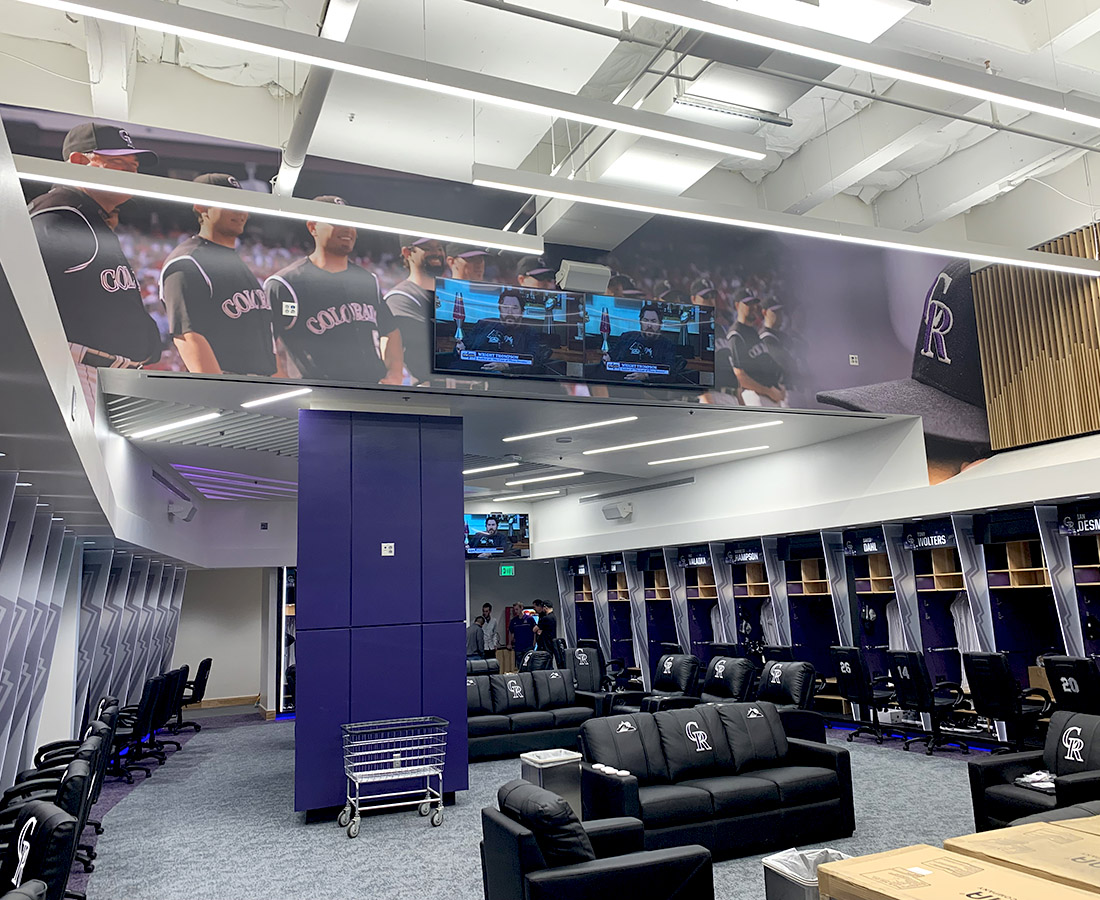 Colorado Rockies locker room graphics