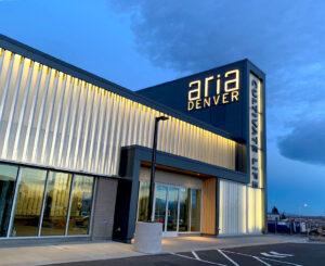 Aria Denver illuminated exterior letters