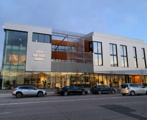 Exterior illuminated signs Wolf, Sub Zero, Cove at Roth Living showroom in Denver