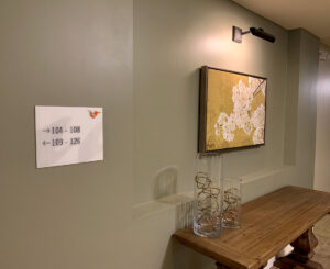 Vita Littleton interior wayfinding sign