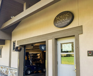 Vail Golf and Nordic Clubhouse exterior building sign of Nordic Lodge