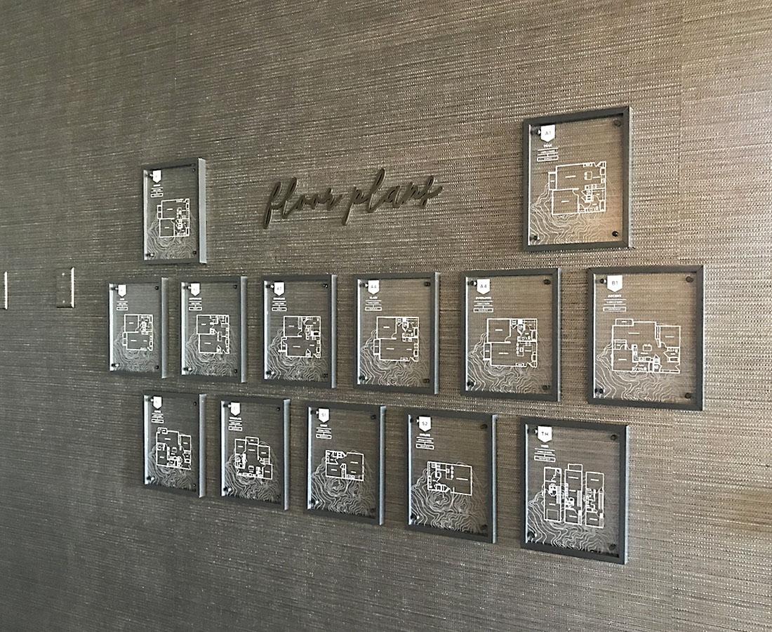 Interior floor plan display at Alliance Residential Montane