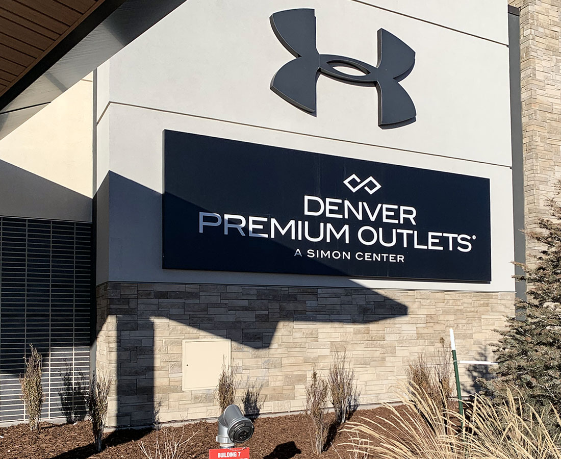 Under Armour exterior sign at Denver Premium Outlets