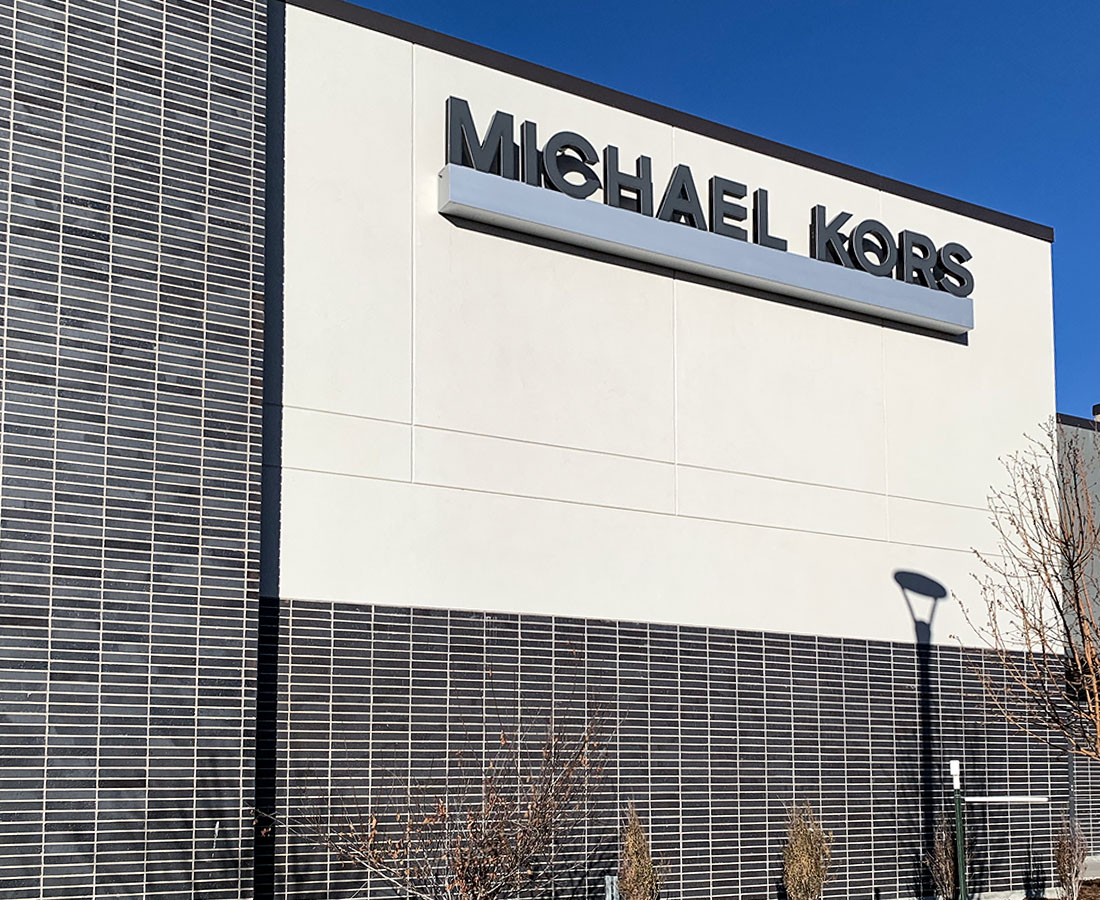 Michael Kors exterior sign at Denver Premium Outlets