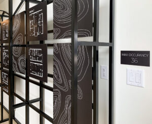 Clovis Point Apartments Leasing Office Floor Plan Display Close Up